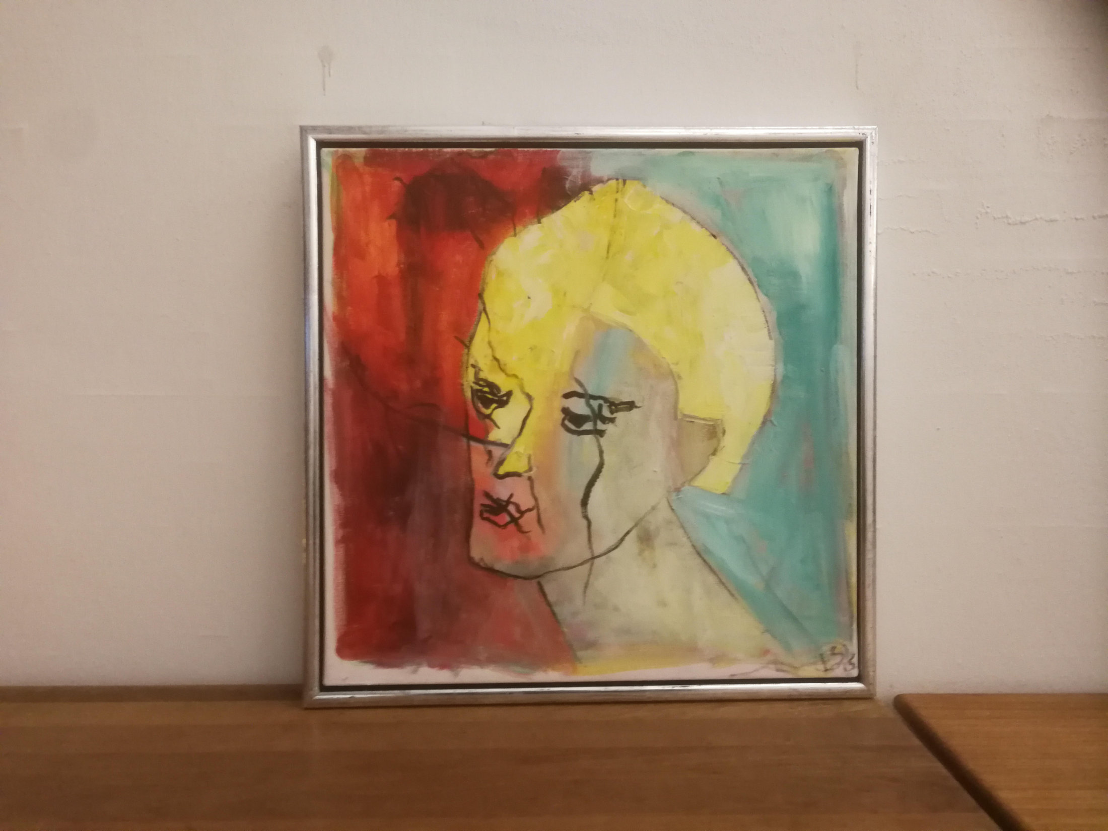 Lod Nr. 8  Maleri - Gul Dame- Erik Sønderby